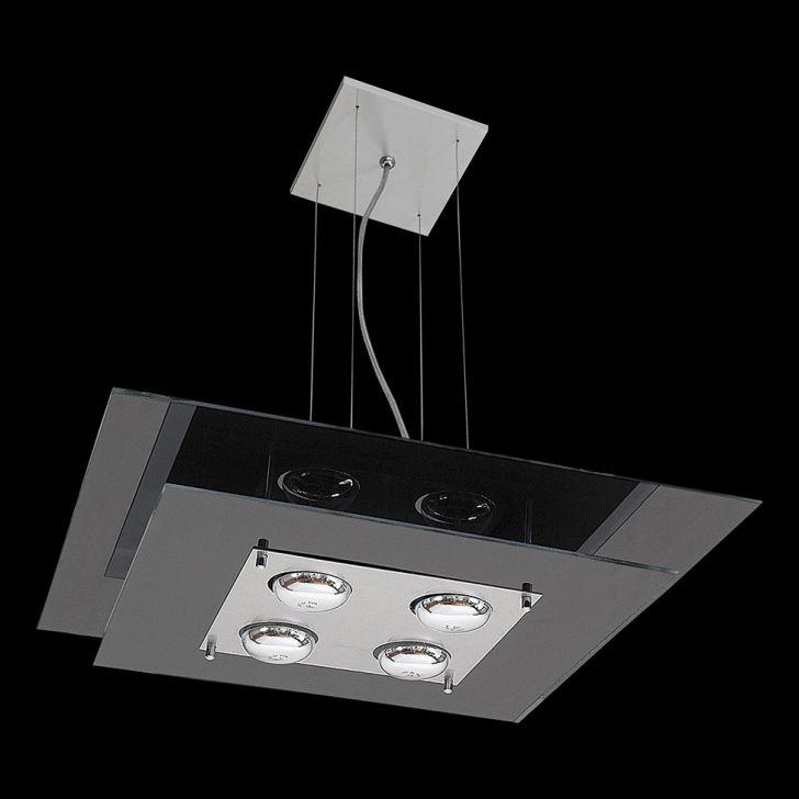 Pendente Saturno Aluminio e Vidro LMQ 133 Escovado Preto Bivolt