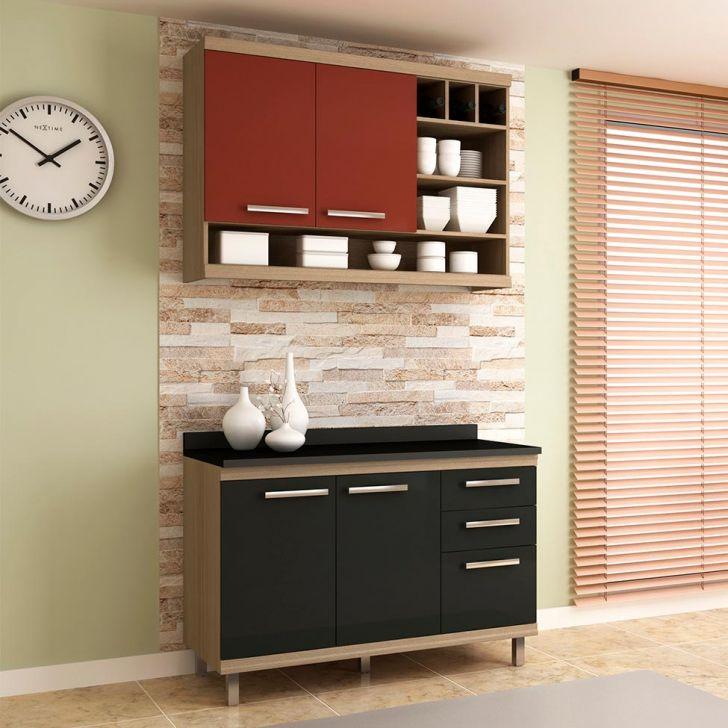 Cozinha Compacta New Vitoria 4 PT 3 GV Onix com Rubi