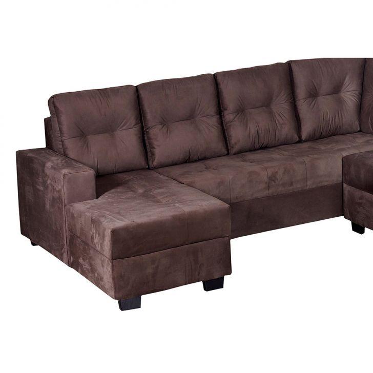 Sof de canto 5 lugares com chaise talism suede liso caf for Sofa com chaise 5 lugares