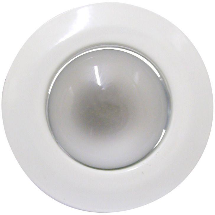 Luminária de Teto Embutido Fixo E-27 60W com Lâmpada Refletora 127V Branco