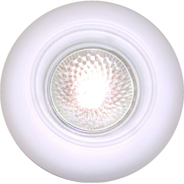 Spot Dicróica Fixo Vidro Redondo Mr16 50W 220V Branco