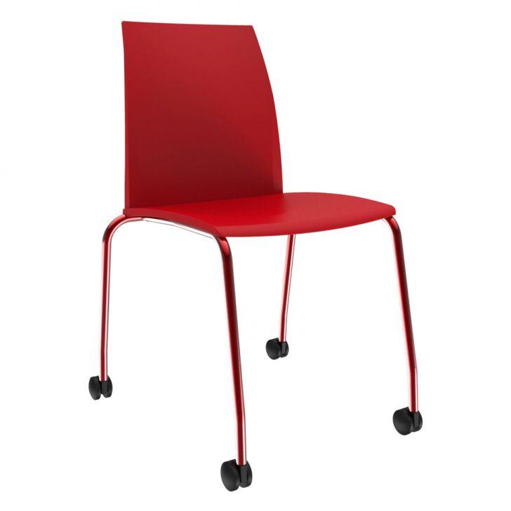 Cadeira de Escritório Secretária Loft Office Vermelha