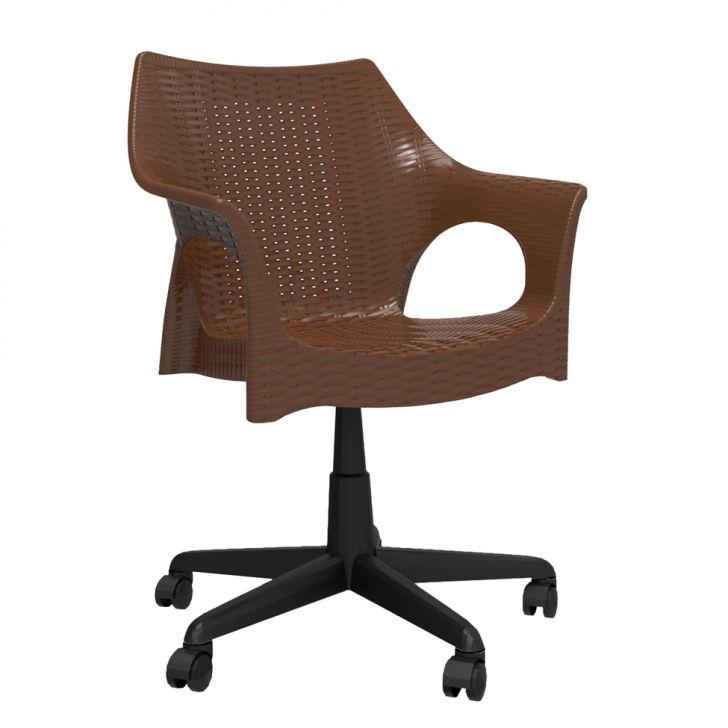 Cadeira de Escritório Secretária Relic Office Marrom Escuro