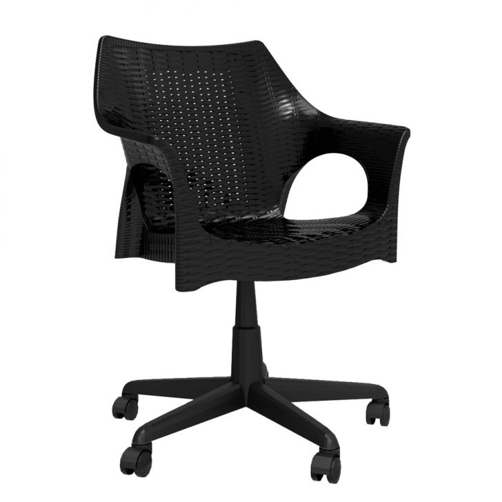 Cadeira de Escritório Secretária Relic Office Preto