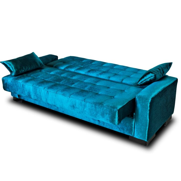 Sof cama para sala de estar lisboa azul for Sofa cama de pared