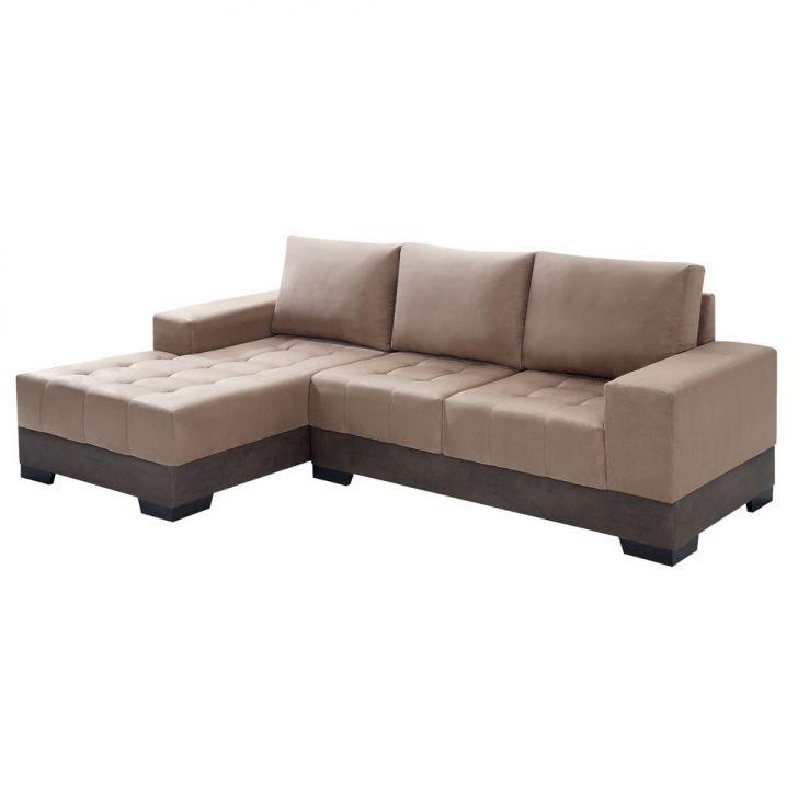 sof 3 lugares com chaise patr cia suede chocolate