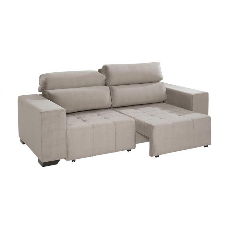 Sof 3 lugares retr til e reclin vel louise com chaise for Sofa 7 lugares retratil e reclinavel firenze
