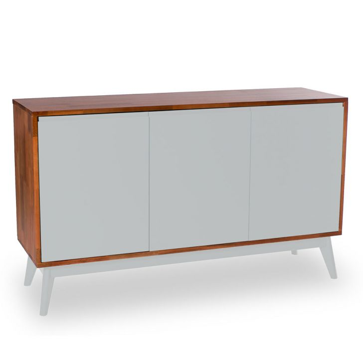 Buffet Safira 3 PT  Natural e Fendi