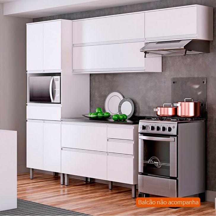 Cozinha Compacta Belíssima Plus 7 PT 1 GV Branca