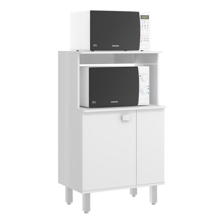 Armário Multiúso 1 PT para Microondas Branco Jaeli