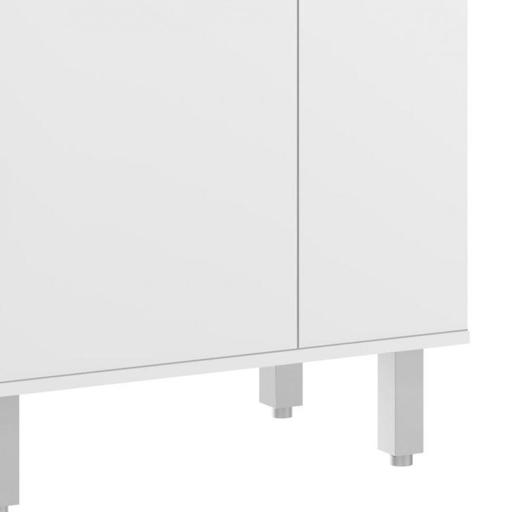 Foto 4 - Armário para Micro-ondas Sloan 1 PT Branco