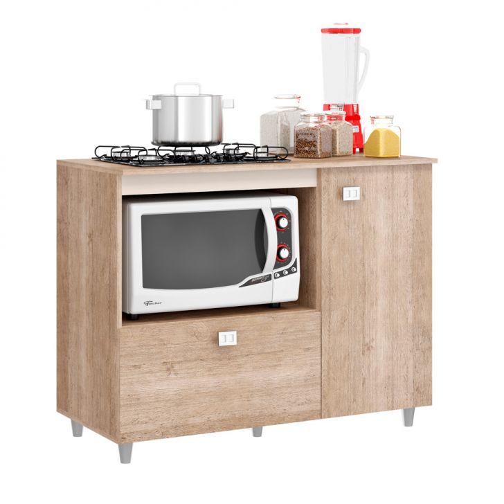 Foto 1 - Balcão de Cozinha Khloe para Cooktop 2 PT Flex Bege e Amarelo