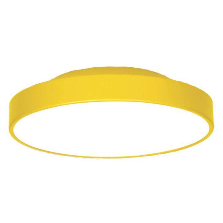 Plafon 7653 Amarelo 4 Lâmpadas  Bivolt