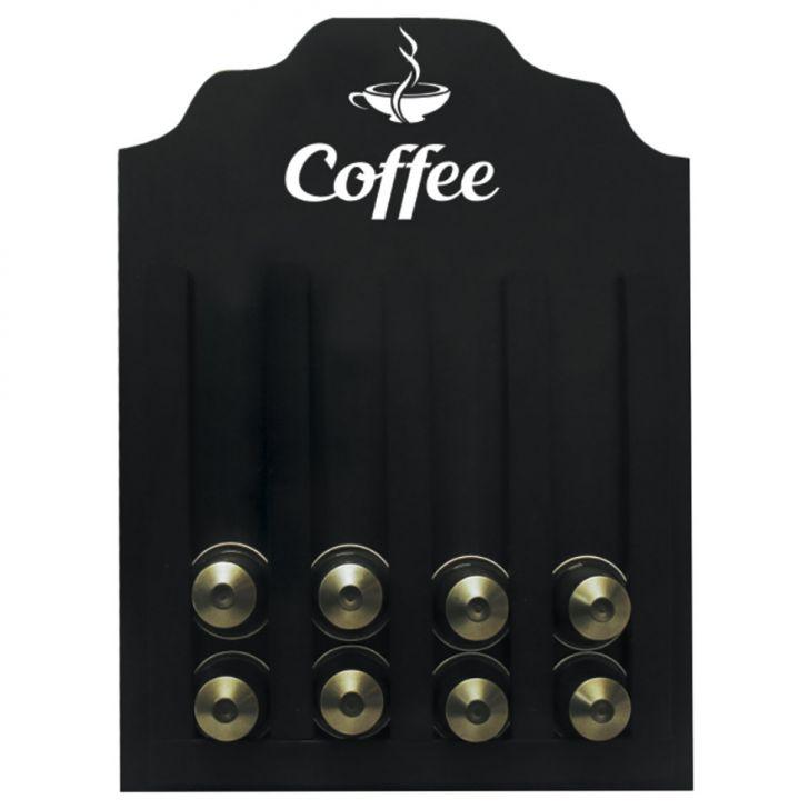 Porta Cápsulas Nespresso Coffee Preto 23x30
