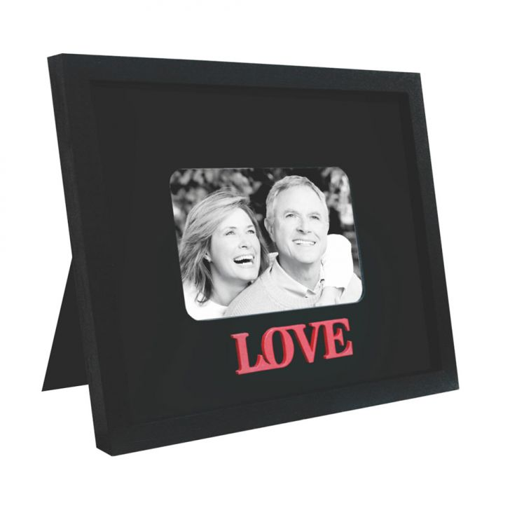 Porta Retrato Love para 1 Foto 10x15 Preto Kapos