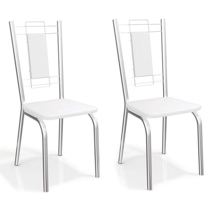 Conjunto 2 Cadeiras Florença Branco