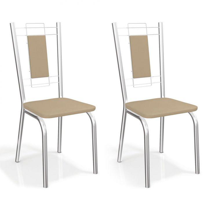 Conjunto 2 Cadeiras Florença Nude