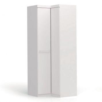 Menor preço em Guarda-Roupa Closet Modulado de Canto Smart 2 PT Branco
