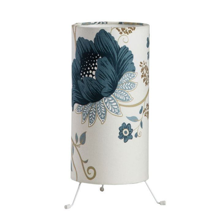 Luminária Bueno Floral Azul
