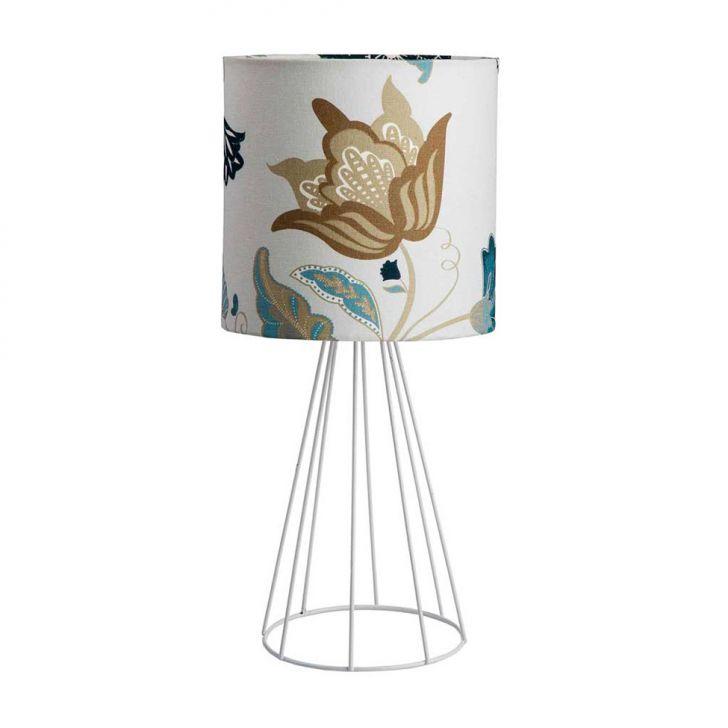 Luminária Kate Branca e Floral