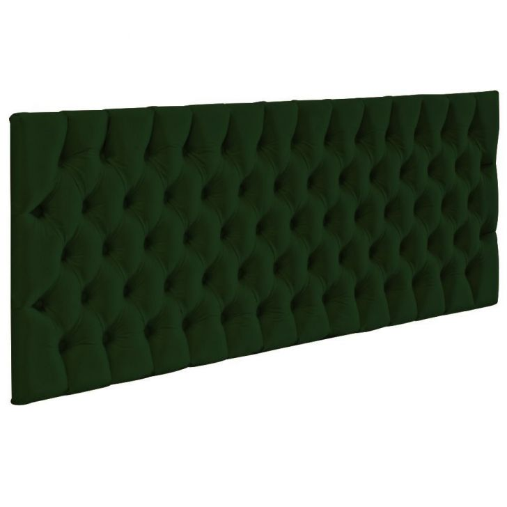 Cabeceira Cama Box Painel Casal Capitonê Amy Suede Verde Musgo 140 cm - Verde - 1 - thumbnail