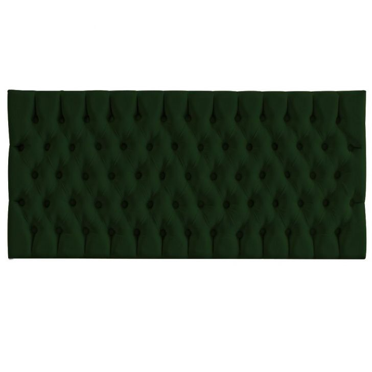 Cabeceira Cama Box Painel Casal Capitonê Amy Suede Verde Musgo 140 cm - Verde - 3 - thumbnail