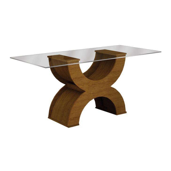 Mesa de Jantar Retangular Olímpia New Imbuia Mel 180 cm