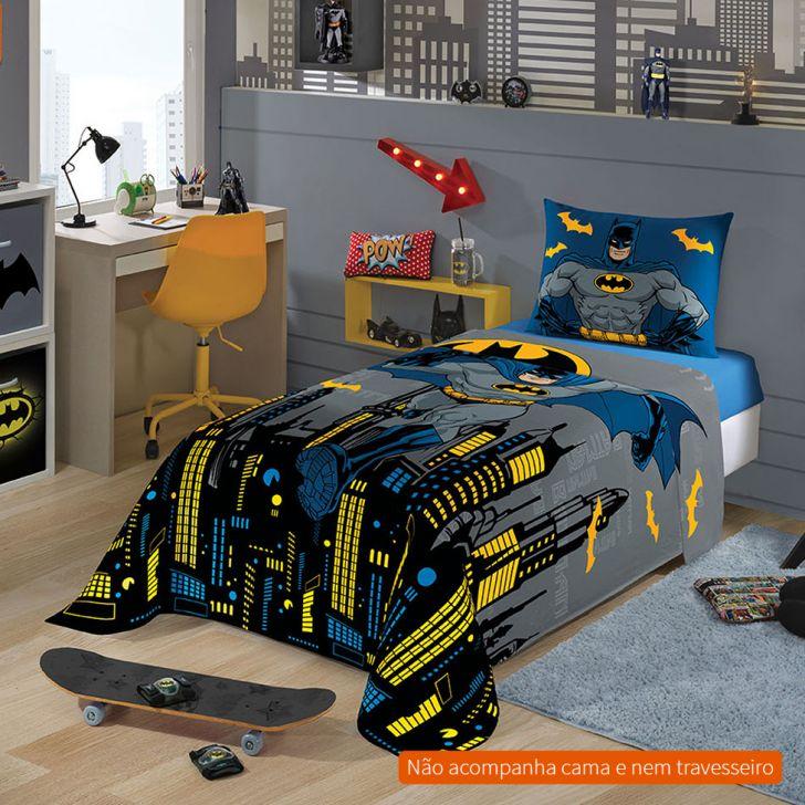 831e6f47c0 Jogo de Cama Infantil com 3 Peças Batman Algodão Azul