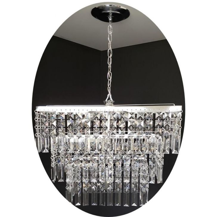Lustre Paris : Lustre luminária retangular cristal acrílico paris