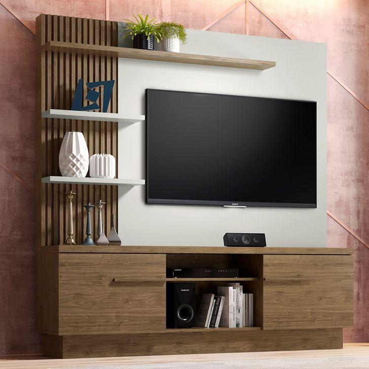 Estante Home Theater Para Tv Até 55 Polegadas Aron: Estante Para Home Theater E TV Até 55 Polegadas Itaipu