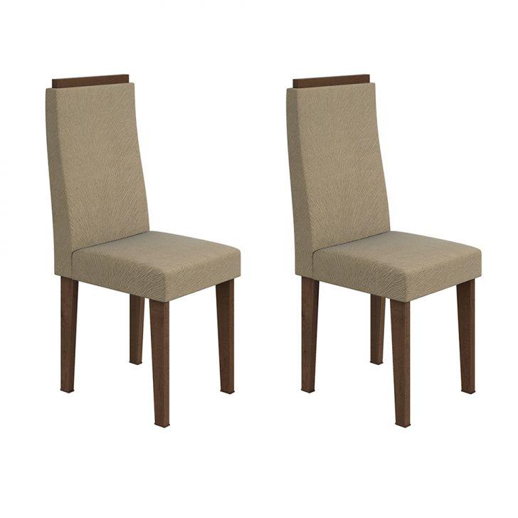 Conjunto 2 Cadeiras Dafne Imbuia Soft