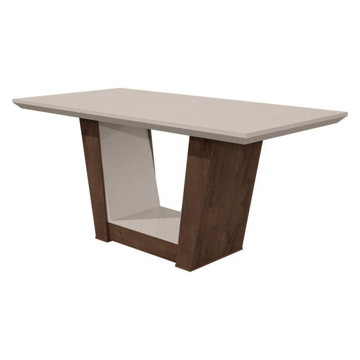 Mesa de Jantar Retangular Apogeu Imbuia Soft Off White