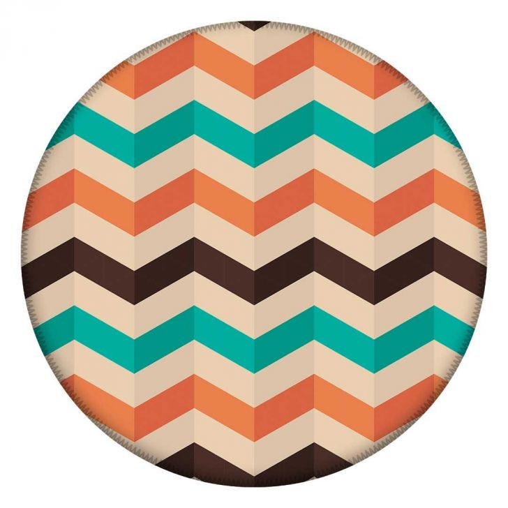 Tapete Redondo Wevans Chevron Color 84cm - Colorido - 2 - thumbnail