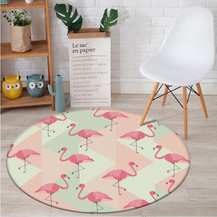98595be6e Tapete Redondo Wevans Flamingo Clássico