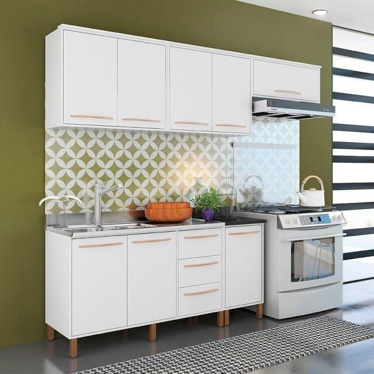 Cozinha Compacta Pistache 8 PT 3 GV Branco