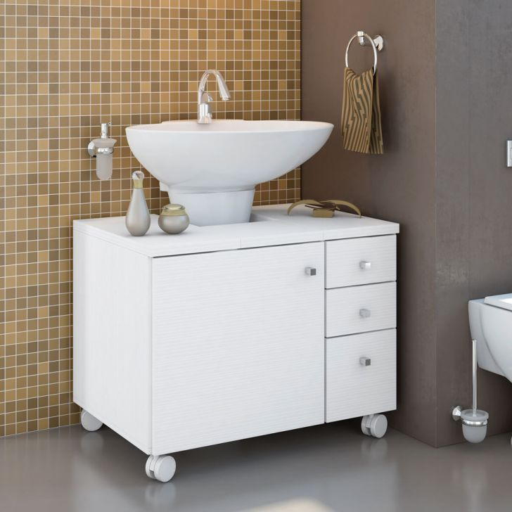 Foto 2 - Gabinete para Banheiro Sindy 1 Pt 3 Gv Branco