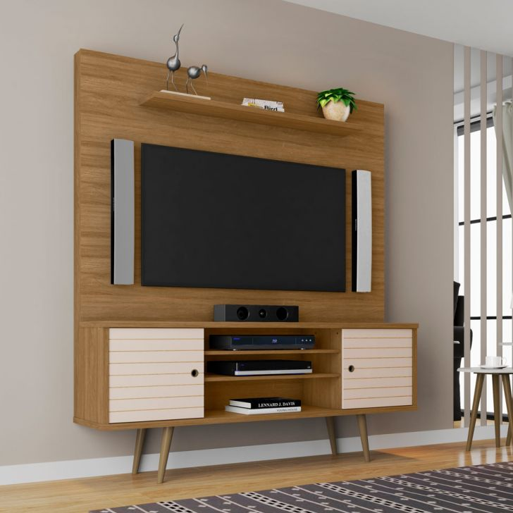 Estante para Home Theater e TV 60 Polegadas Tivoli Cinamomo e Off-White