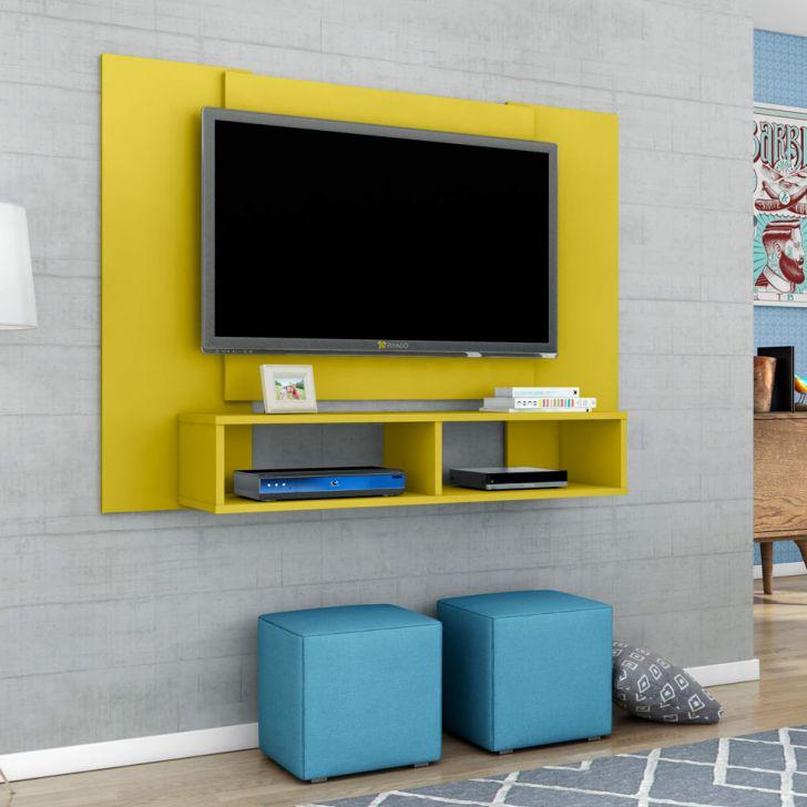 painel para tv at 48 polegadas navi amarelo 120 cm. Black Bedroom Furniture Sets. Home Design Ideas