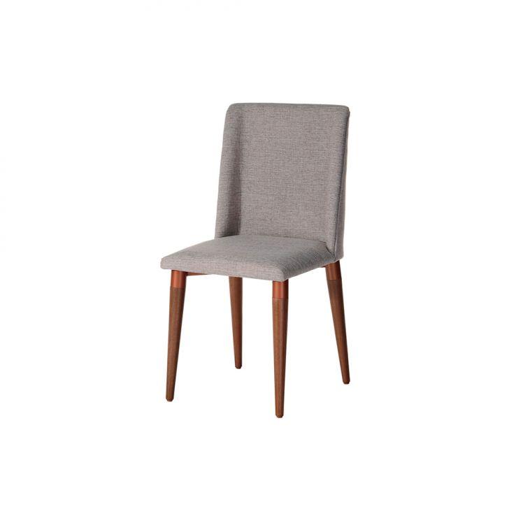Cadeira Thyra Natural e Cinza
