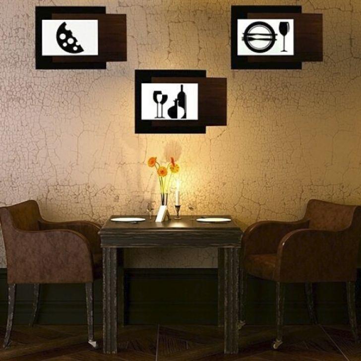 Conjunto de quadros decorativos ambiente cozinha 3 for Conjunto de espejos decorativos