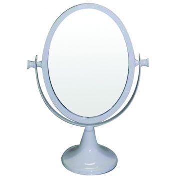 Espelho De Mesa Metal Romantic Oval 2 Lados Branco   - Metropole DESCONTO DE R$: 231,34 (76,27% OFF) - OFERTA MOBLY
