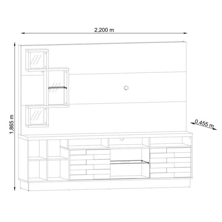 Foto 3 - Estante para Home Theater Heitor Rijo 220 cm