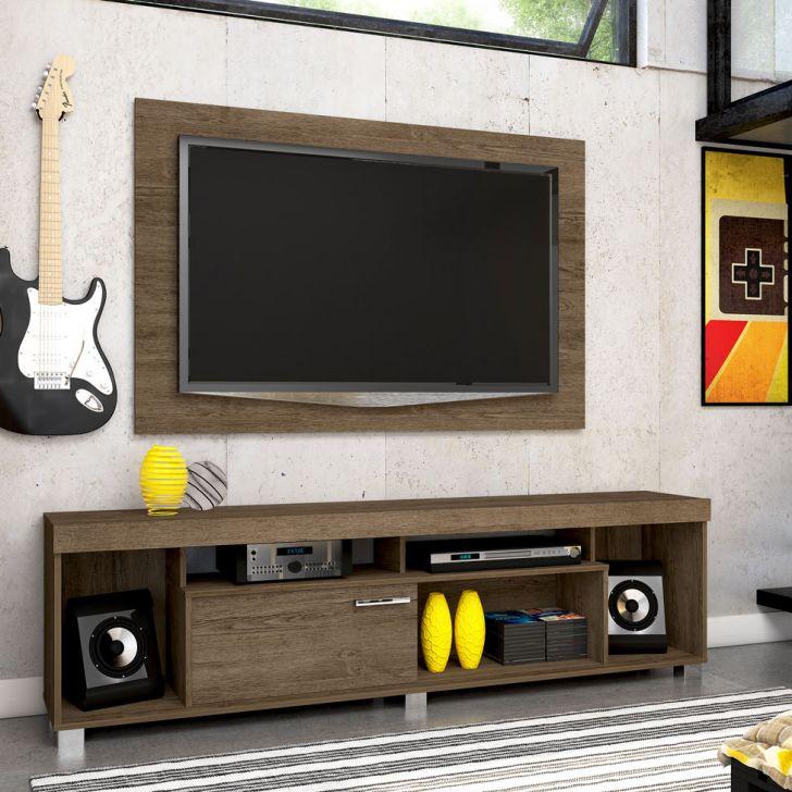 Rack Com Painel para TV 55 Polegadas Tomaz Rijo