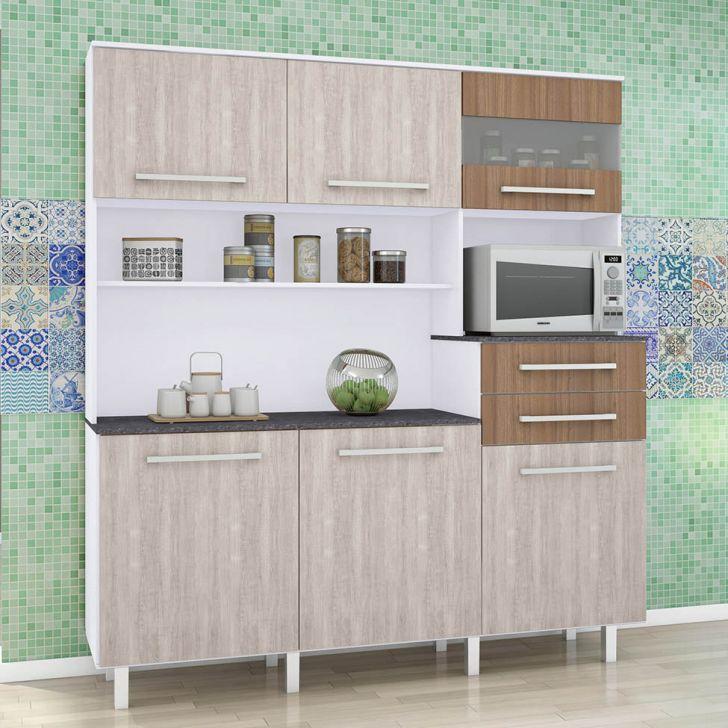 Foto 2 - Cozinha compacta Suprema 6 PT 2 GV Branco e Elmo