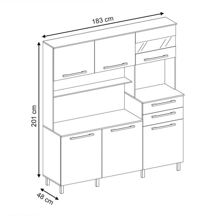 Foto 3 - Cozinha compacta Suprema 6 PT 2 GV Branco e Elmo