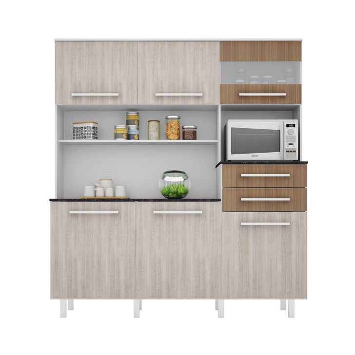 Foto 4 - Cozinha compacta Suprema 6 PT 2 GV Branco e Elmo