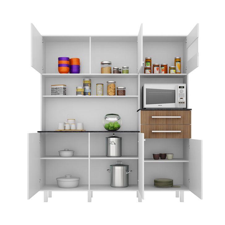 Foto 6 - Cozinha compacta Suprema 6 PT 2 GV Branco e Elmo
