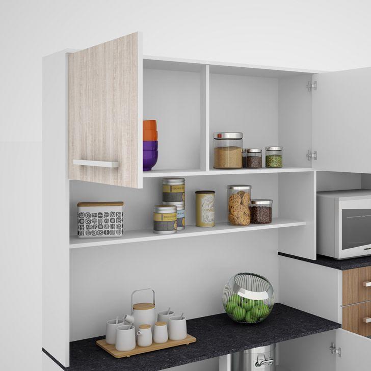 Foto 7 - Cozinha compacta Suprema 6 PT 2 GV Branco e Elmo
