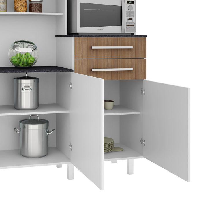 Foto 8 - Cozinha compacta Suprema 6 PT 2 GV Branco e Elmo