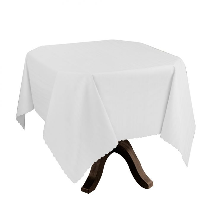 Toalha de Mesa Impermeável Branca 0,70x0,70